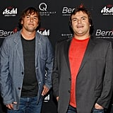 Director Richard Linklater and Jack Black hung out on the red carpet at the New York premiere of Bernie.