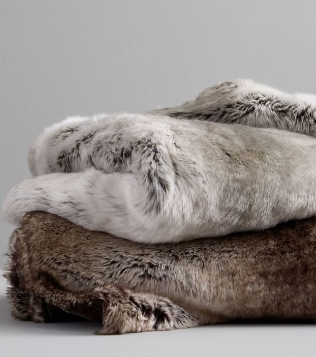 Faux Fur Ombre Throw