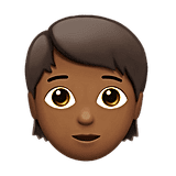 A young genderless emoji.