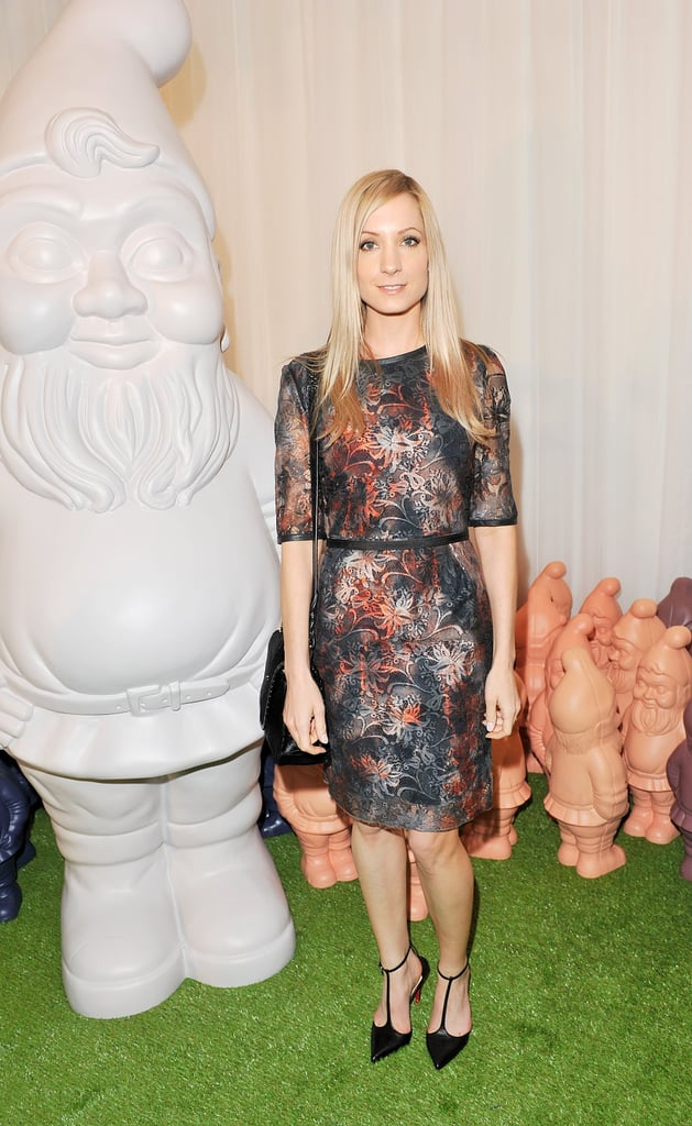 Joanne Froggatt wore Mulberry's Wild Dress in Moonlight Tie Dye Lace and carried the Bryn in Black Haircalf from the Autumn Winter 2012 Collection.