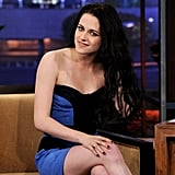 Kristen Stewart combed her hands through her hair.