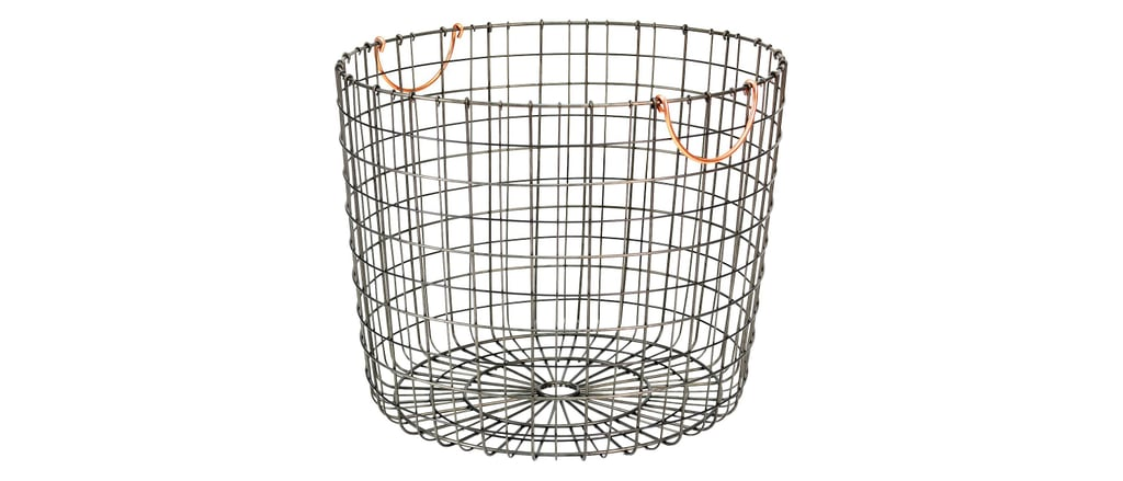 Extra Large Round Wire Decorative Storage Bin ($25)