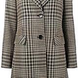 Etro Wide-Collar Check Coat