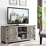 Barn Door TV Stand With Side Doors