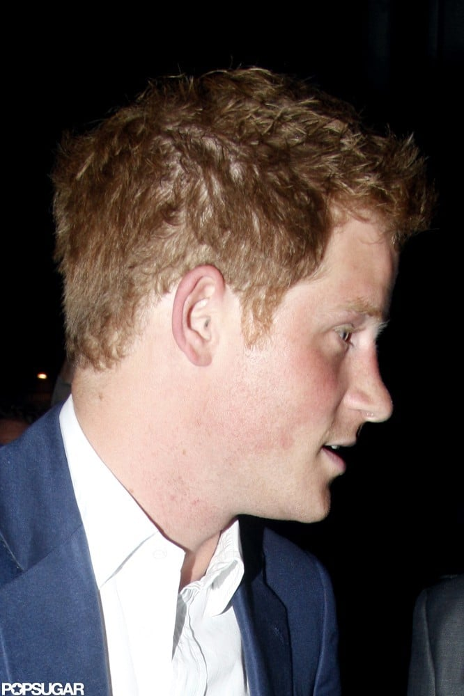 A close-up of Prince Harry in London.