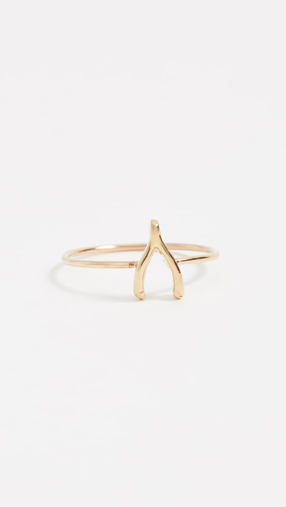 ed971b394300e0 Jennifer Meyer Jewelry 18k Gold Mini Wishbone Ring   Best Classic ...