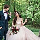 Woodsy Pink Bohemian Wedding