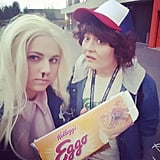 Eleven and Dustin