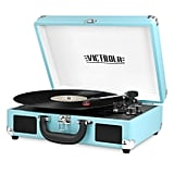 Victrola Turquoise Portable Bluetooth Turntable Record Player