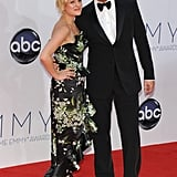 Mad Men costars Elisabeth Moss and Jon Hamm posed together on the red carpet.