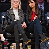 Julianne Hough and Nina Dobrev attended the game together.