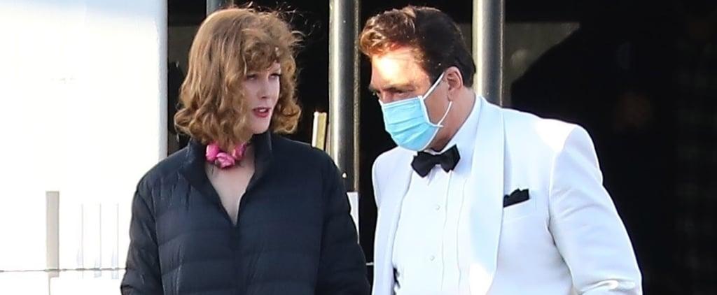 Nicole Kidman as Lucille Ball on Being the Ricardos Set