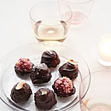 Raspberry Macaroons in Chocolate Shells