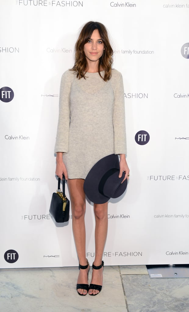 Alexa Chung at the Fashion Institute of Technology Future of Fashion Runway Show