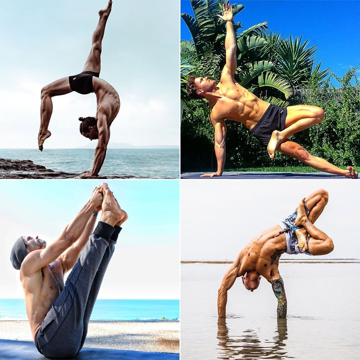 Shirtless Guys Doing Yoga