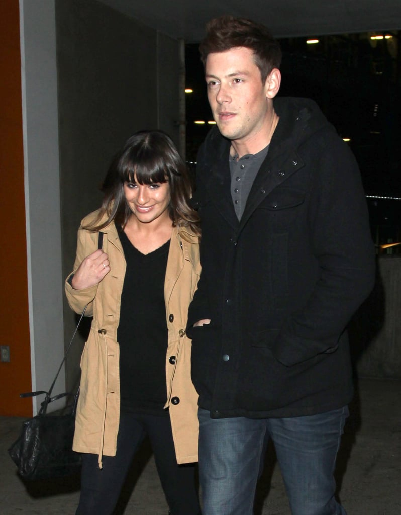 Lea Michele held on tight to Cory Monteith.