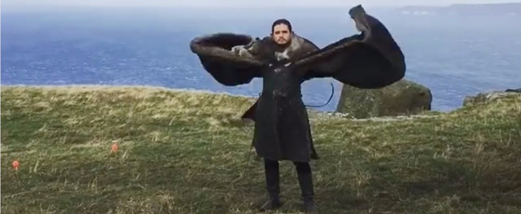 Emilia Clarke Can't Stop Laughing at Kit Harington Flapping His Pretend Dragon Wings