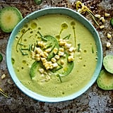Spicy Corn and Avocado Soup