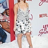 Kiernan Shipka's Silver Miu Miu Dress Is Covered in Sequins