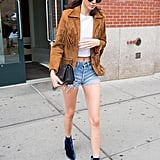 Cut-Offs and a Fringed Suede Jacket