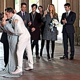 Blake Lively, Leighton Meester, and Ed Westwick filmed a scene for Gossip Girl in NYC