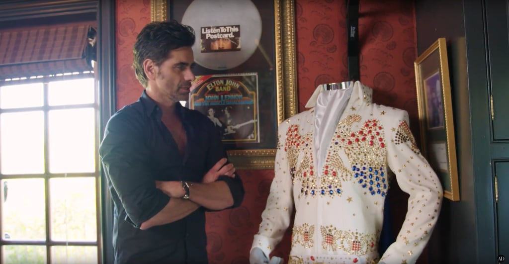 John's also got a full-blown Elvis costume, since he impersonates the singer oh so well.