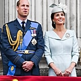 July: Kate was all smiles at the RAF Celebration.