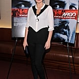 Kate Upton wore black and white at the NYC screening of Ben Affleck's new film Argo.