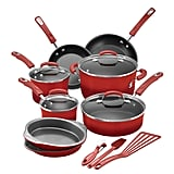 Rachael Ray 15-Piece Hard Enamel Aluminium Nonstick Cookware Set