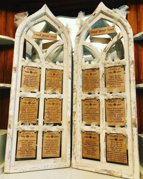 Gothic Windows Wedding Seating Chart