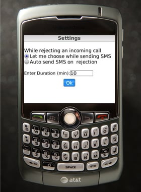BB App Helps You Ignore Calls and SMS's the Person Calling
