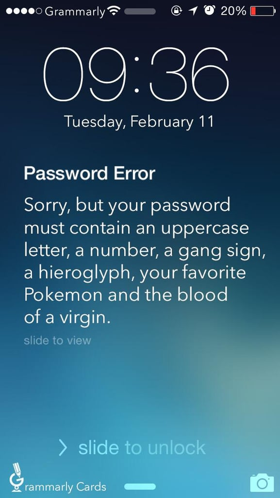 Running Out of Password Ideas