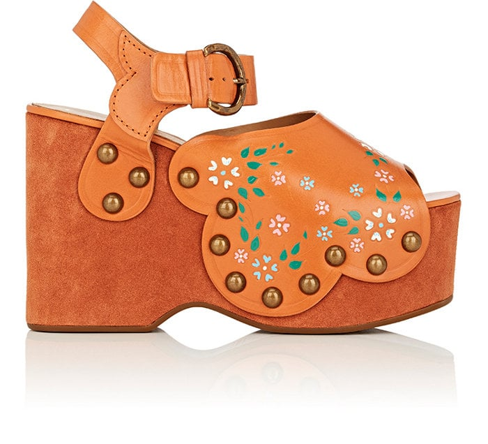 Marc Jacobs presents us with his Dawn Leather and Suede Wedge Sandals ($450), which would appeal to any boho queen.