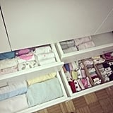 Vertical stacking in drawers makes organizing a child's clothes simple.