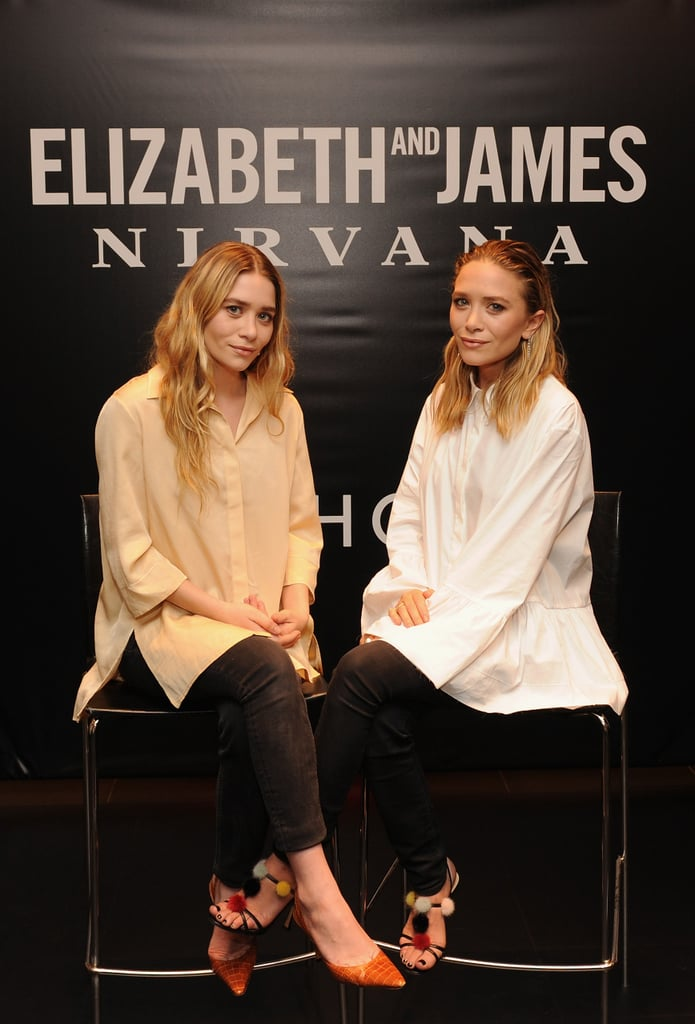 Mary-Kate and Ashley Olsen debuted their new fragrance, Elizabeth and James Nirvana, at a Sephora store in NYC on Wednesday.