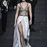 Bella Hadid Walking the Alberta Ferretti Show at Milan Fashion Week Autumn/Winter 2019/2020