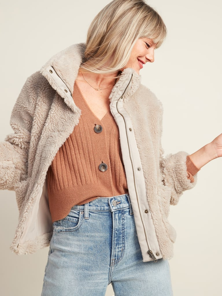 Old Navy Relaxed Cozy Sherpa Faux-Fur Jacket