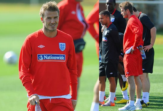 Pictures of David Beckham Warming Up Before World Cup