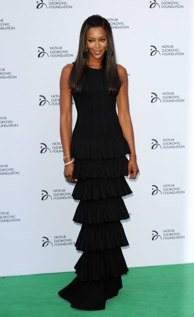 Naomi Campbell was among the guests to attend the Novak Djokovic Foundation dinner gala in London.