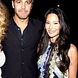 Lucy Liu hung out with George Clooney at the June 2000 MTV Movie Awards.