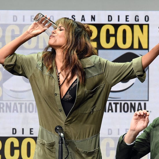 Halle Berry Drinking Whiskey at Comic-Con July 2017
