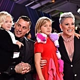Pink and Carey Hart With Their Family at the 2019 People's Choice Awards