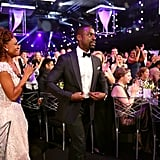 Pictured: Ryan Michelle Bathe and Sterling K. Brown