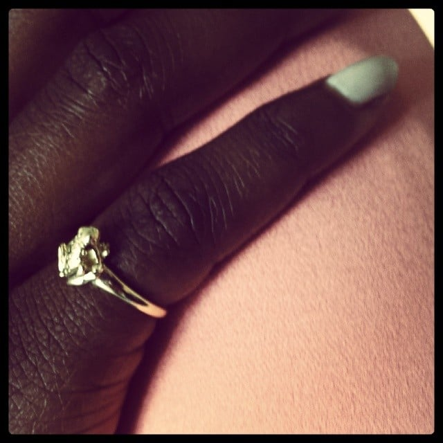 Best actress nominee Lupita Nyong'o shared a close-up snap of her mint manicure. Source: Instagram user lupitanyongo