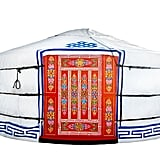 Toss that tired old tent from your Girl Scout days and glamp in Gwyneth style with this Groovyyurts 20' Yurt ($8,300).