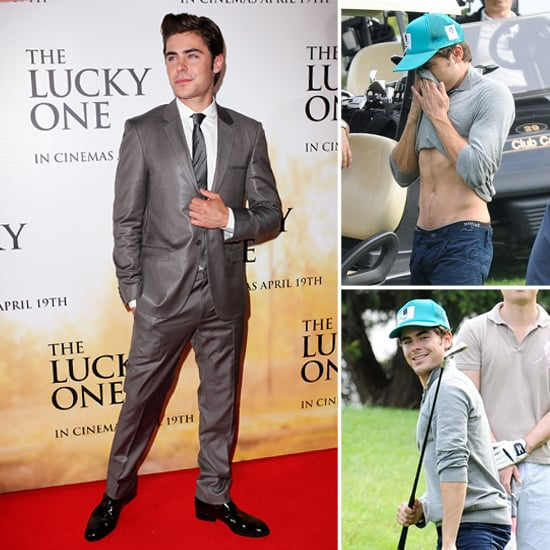 Zac Efron Plays Golf in Australia Pictures