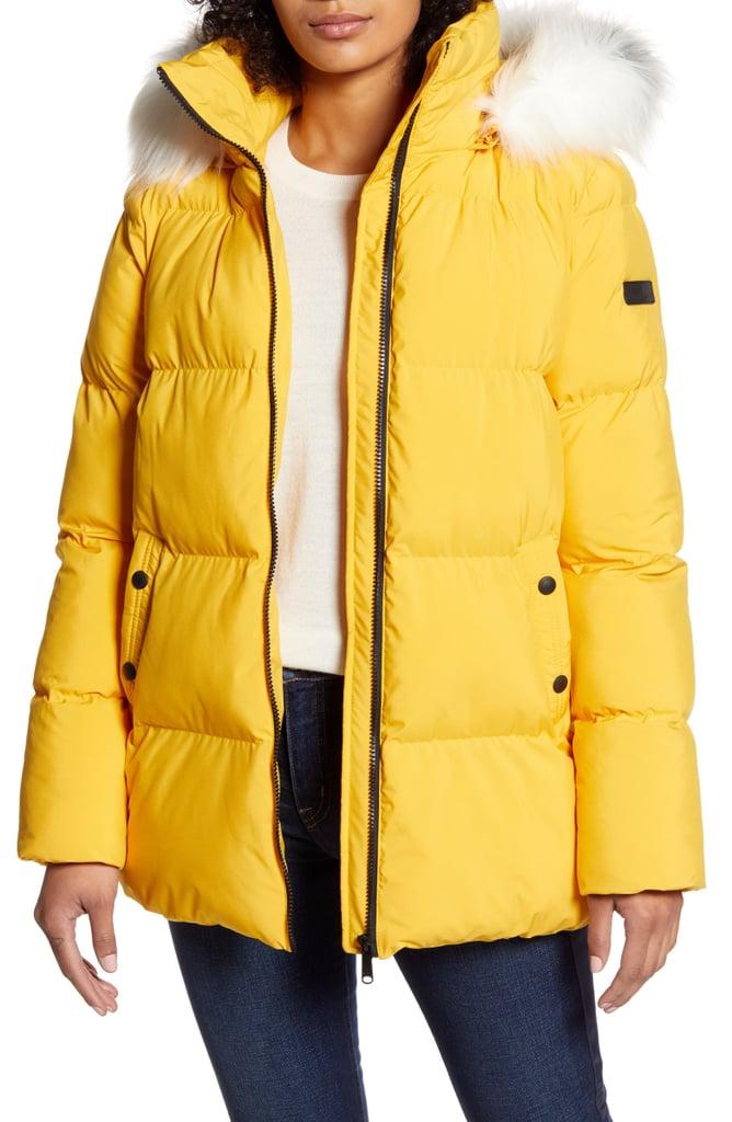 Sam Edelman Water Repellent Faux Fur Trim Puffer Jacket The Best Affordable Puffer Jackets Popsugar Fashion Australia Photo 8