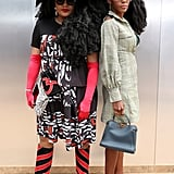 Tk Wonder and Cipriana Quann at the Longchamp New York Fashion Week Show