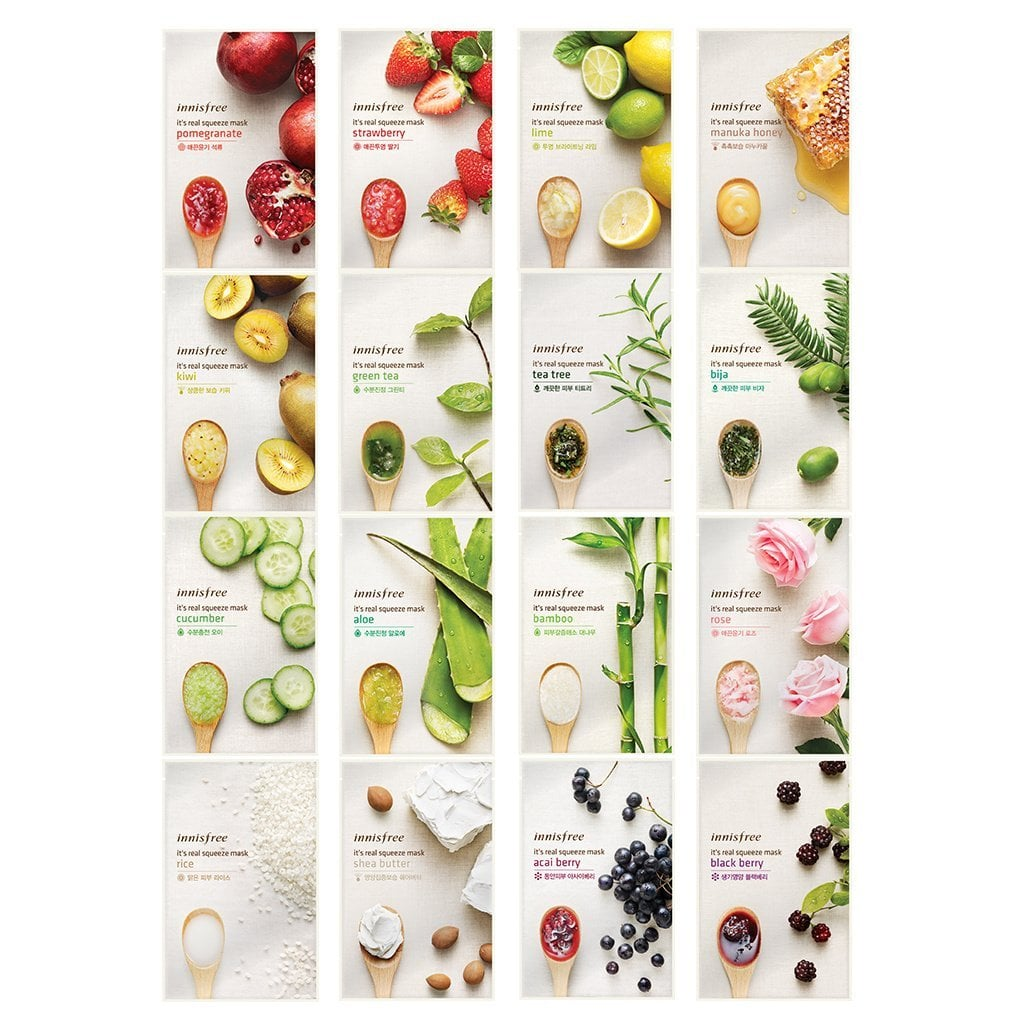 Innisfree It's Real Squeeze Mask Sheet Set