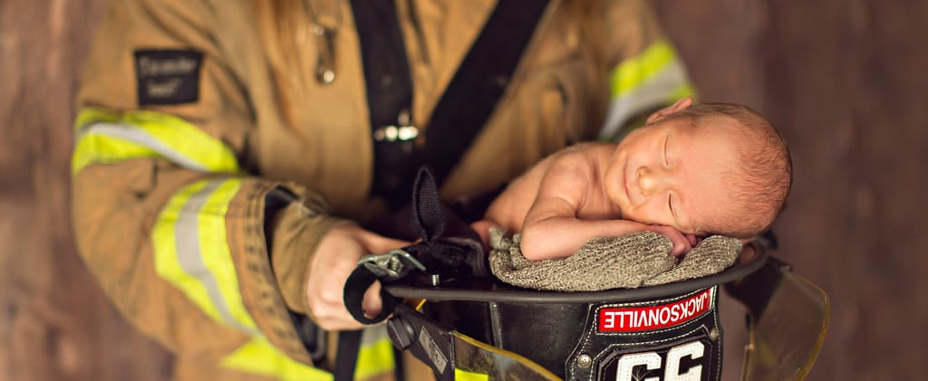 This Newborn Shoot Featuring 2 Parents in Uniform Is Going Viral